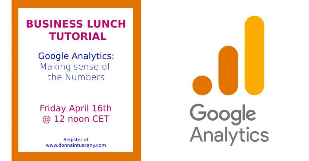 google analytics - finding the numbers that matter to you Donna In Tuscany